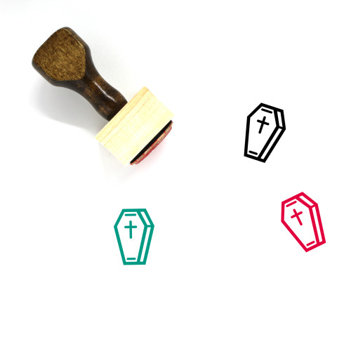 Coffin Wooden Rubber Stamp No. 59