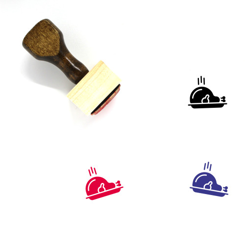 Feast Wooden Rubber Stamp No. 3