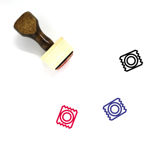 Condom Wooden Rubber Stamp No. 11