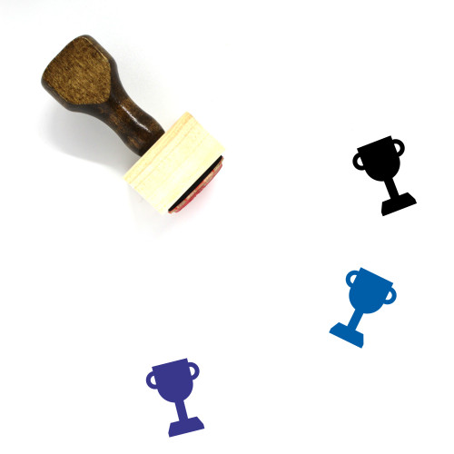 Trophy Cup Wooden Rubber Stamp No. 40