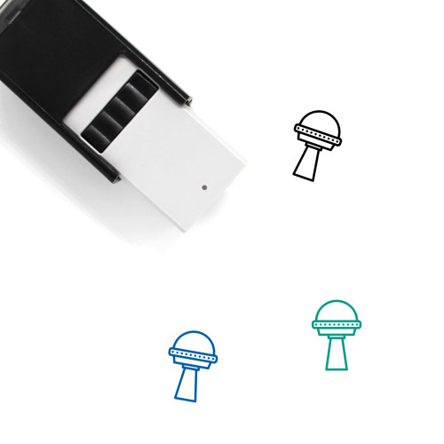 Flying Saucer Self-Inking Rubber Stamp No. 32