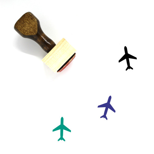 Airplane Wooden Rubber Stamp No. 331