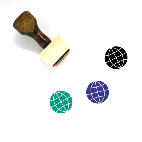 Globe Wooden Rubber Stamp No. 1291
