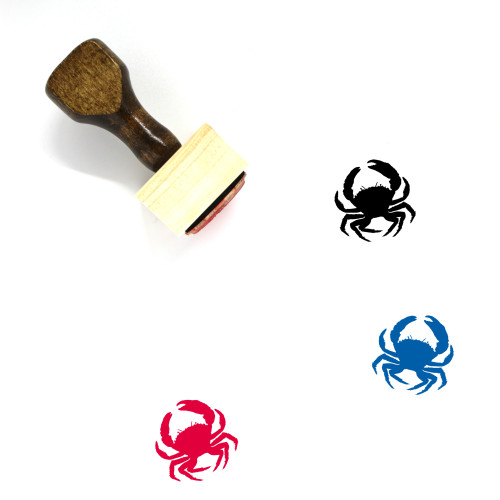 Eriphia Crab Wooden Rubber Stamp No. 1