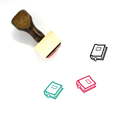 Book Wooden Rubber Stamp No. 697