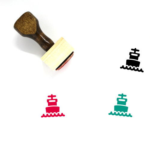 Ship Wooden Rubber Stamp No. 146