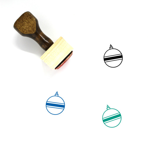 Ornament Wooden Rubber Stamp No. 182