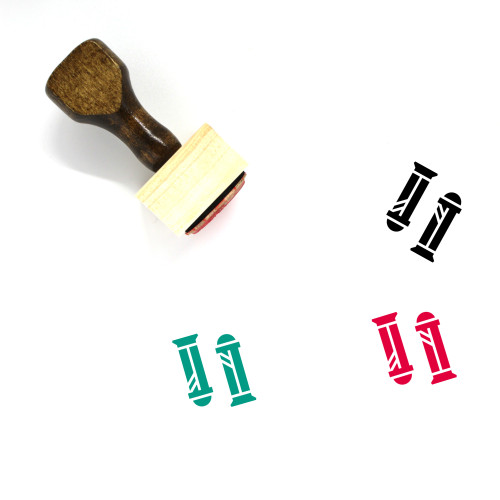 Handle Wooden Rubber Stamp No. 21