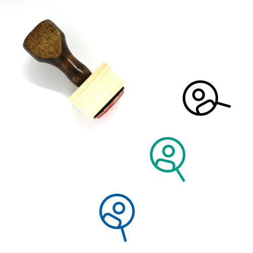 Human Resource Wooden Rubber Stamp No. 63