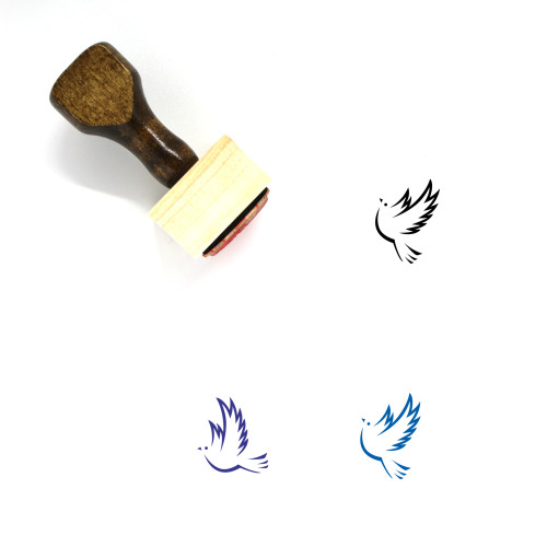 Dove Wooden Rubber Stamp No. 15