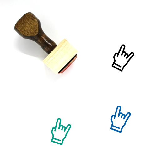Rock N Roll Wooden Rubber Stamp No. 18