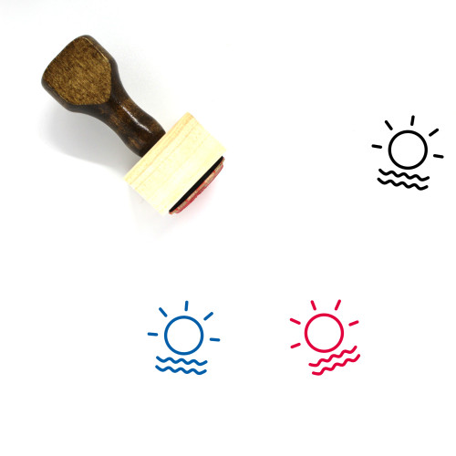 Foggy Day Wooden Rubber Stamp No. 3