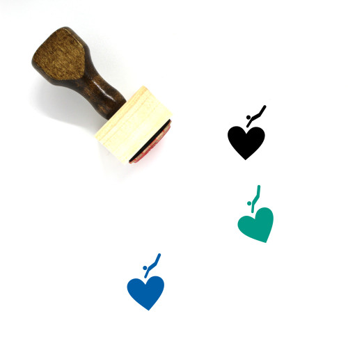 Falling In Love Wooden Rubber Stamp No. 9