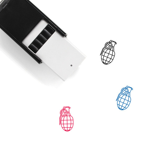 Hand Grenade Self-Inking Rubber Stamp No. 3