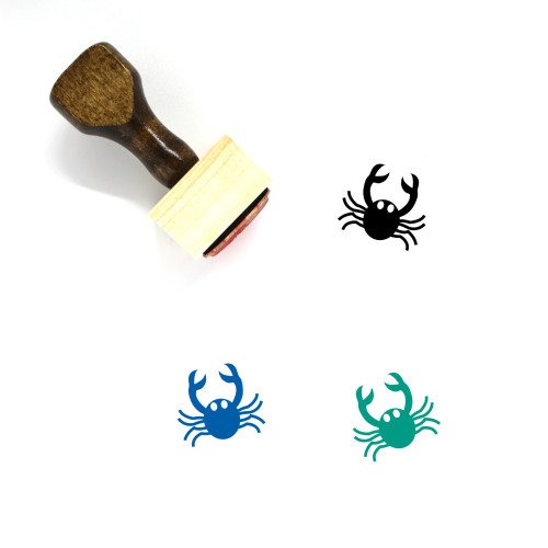 Crab Wooden Rubber Stamp No. 44