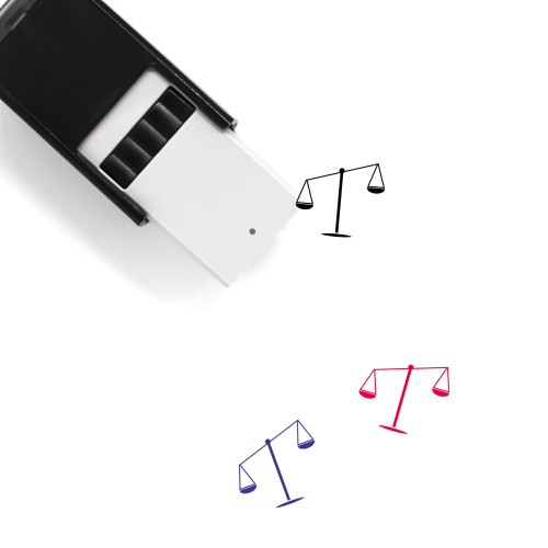 Justice Scale Self-Inking Rubber Stamp No. 50