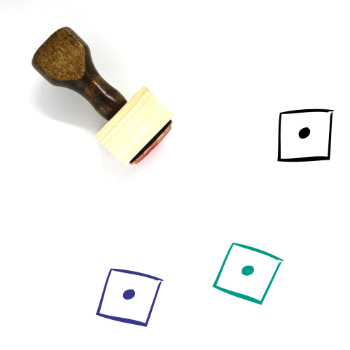 Dice Wooden Rubber Stamp No. 149