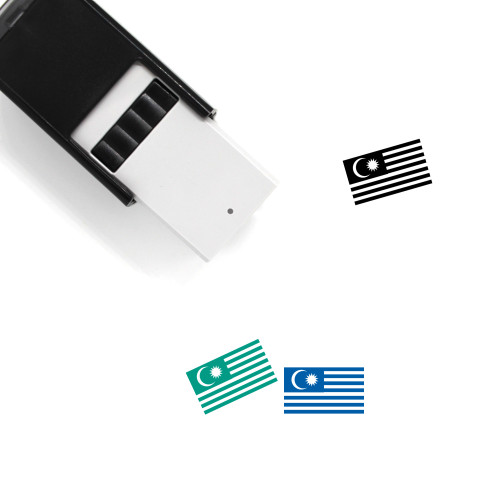 Malaysian Flag Self-Inking Rubber Stamp No. 2