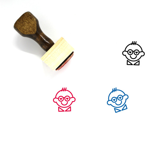 In Love Wooden Rubber Stamp No. 64