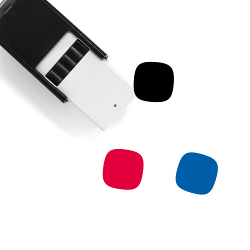 Squircle Self-Inking Rubber Stamp No. 2
