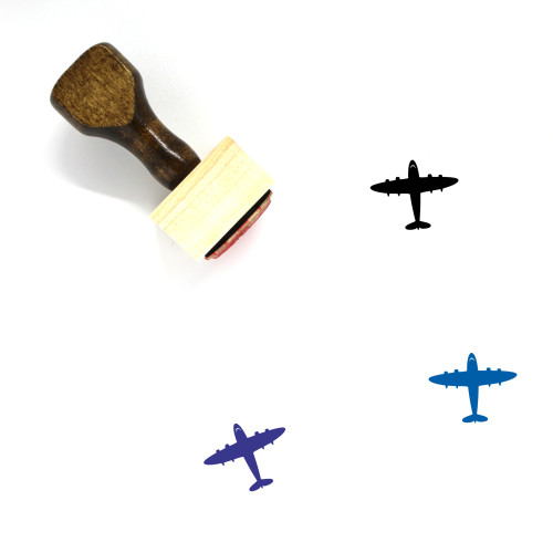 Airplane Wooden Rubber Stamp No. 332