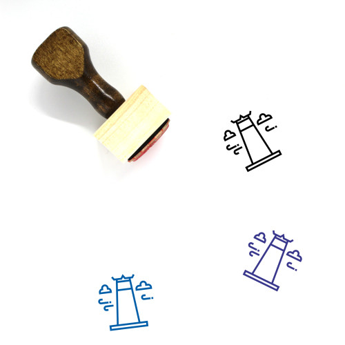 Giant Swing Wooden Rubber Stamp No. 1