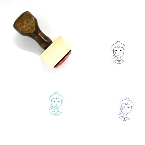 Old Woman Wooden Rubber Stamp No. 2