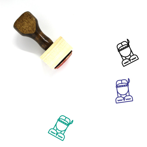 Indian Wooden Rubber Stamp No. 14