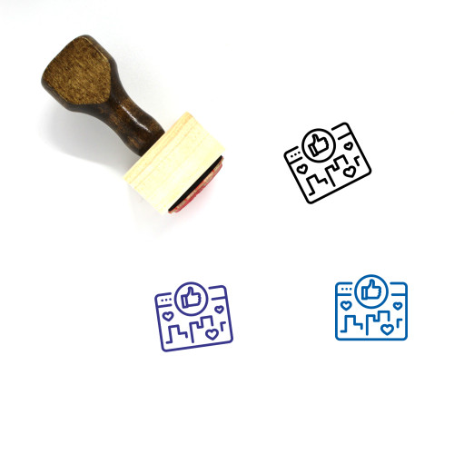 Social Media Campaign Wooden Rubber Stamp No. 1