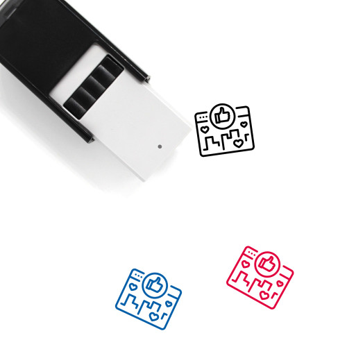 Social Media Campaign Self-Inking Rubber Stamp No. 1