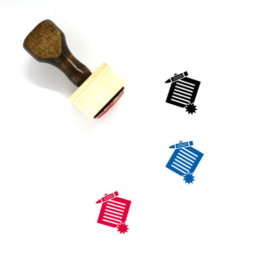 Legal Contract Wooden Rubber Stamp No. 1