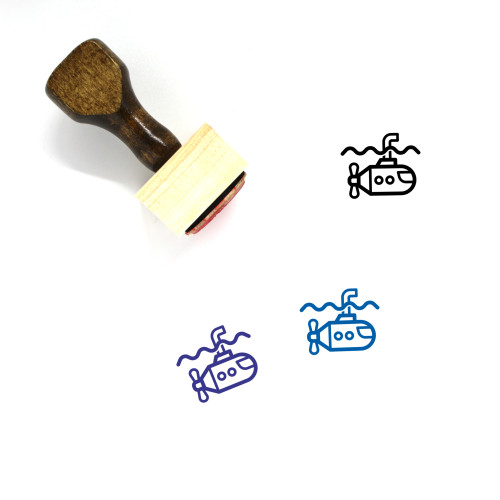 Submarime Wooden Rubber Stamp No. 1