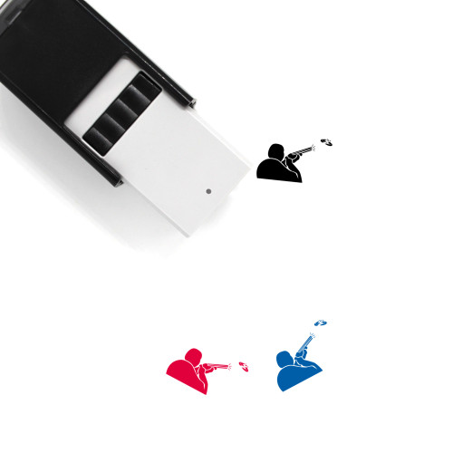 Ball Trap Self-Inking Rubber Stamp No. 1