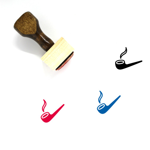 Smoking Pipe Wooden Rubber Stamp No. 33