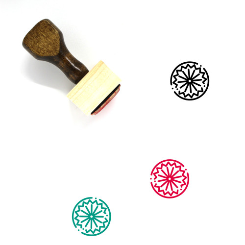 Indian Wooden Rubber Stamp No. 15
