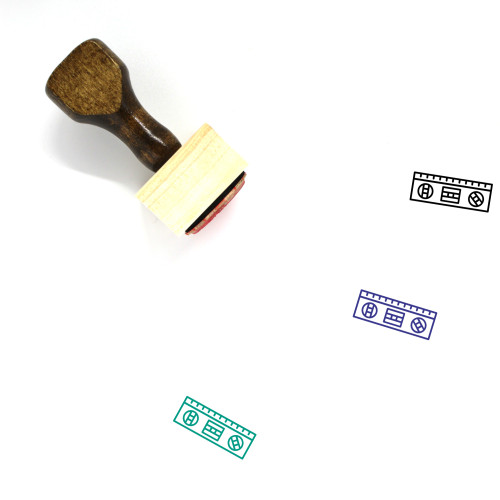 Level Wooden Rubber Stamp No. 37