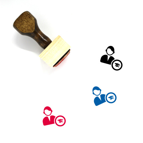 Male User Wooden Rubber Stamp No. 37