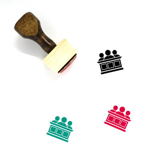 Jurors Wooden Rubber Stamp No. 1