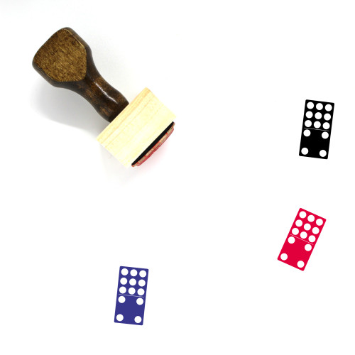 9 4 Domino Wooden Rubber Stamp No. 1