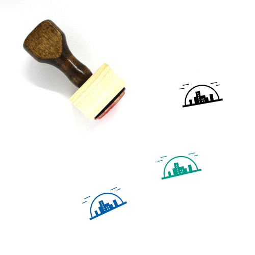 City Wooden Rubber Stamp No. 193