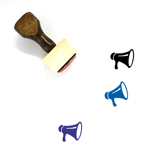 Megaphone Wooden Rubber Stamp No. 102
