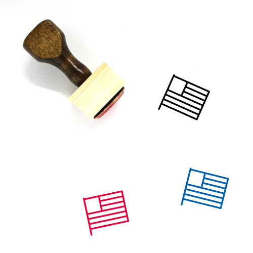 United States Wooden Rubber Stamp No. 89