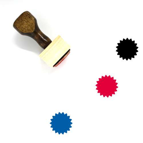 Rosette Wooden Rubber Stamp No. 9