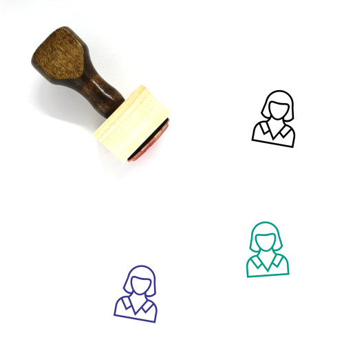 Secretary Wooden Rubber Stamp No. 32