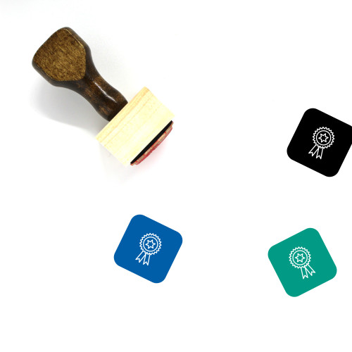 Badge Wooden Rubber Stamp No. 20