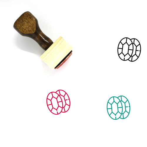 Jewels Wooden Rubber Stamp No. 20