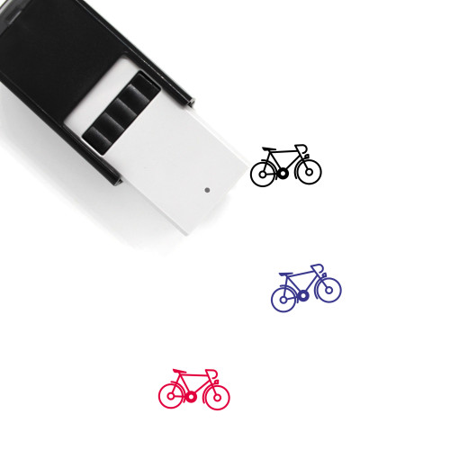 Bicycle Self-Inking Rubber Stamp No. 178