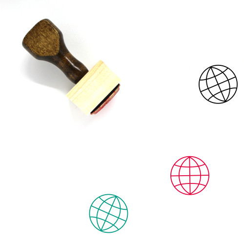 Globe Wooden Rubber Stamp No. 1295