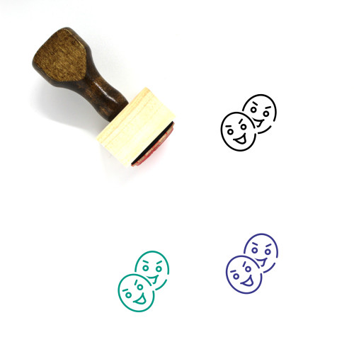 Role Wooden Rubber Stamp No. 5