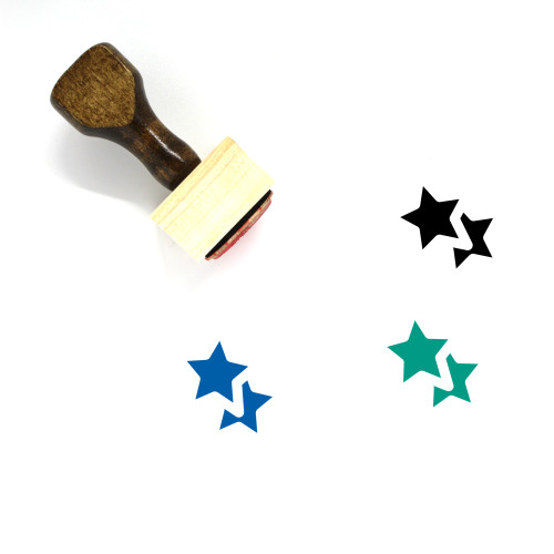 Stars Wooden Rubber Stamp No. 65